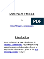 Smokers and Vitamin E