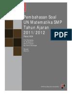 Pembahasan Soal Un Matematika Smp Ta 2012