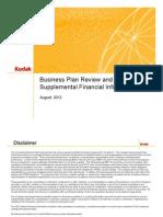 Kodak Bondholder Disclosure August 2012