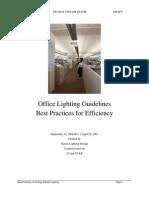 Office Lighting Guidelines Rev 1