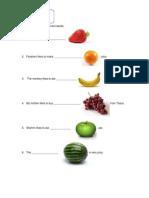 Exercise Year 3 Fruits
