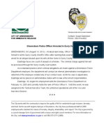 Greensboro police officer arrested