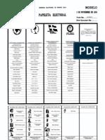 Papeleta Estatal - Elecciones 1976