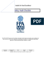 SAFE Food Safety Audit Checklist