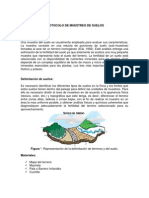 Protocolo de Muestreo de Suelos y Cortes de Perforacion