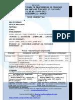 Ficha 1 de Inscripcion General Para Congreso Fle 2013 Formato Final