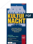 Kulturnacht Osnabrück 2012 Programm Veranstaltungen - leserfreundliche Version DIN A4