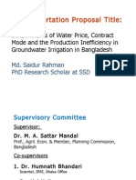 Determinants of Water Price, Contract Mode and the Production Inefficiency in Groundwater Irrigation in Bangladesh