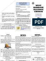 Church Newsletter - 12 August 2012