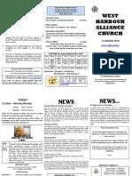Church Newsletter - 12 August 2012