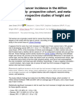 Height Confers Greater Cancer Risk