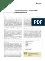 aportaciones de la atencion primaria y la salud pública al desarrollo de salud comunitaria