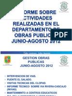 Obras Publicas Junio-Agosto 2012 El Carmen