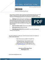 Imf Cameroon Aug2012 Article IV Consultation