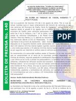 Boletin de Prensa 140