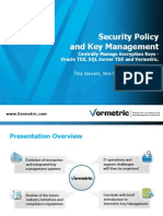 Security Policy and Key Management