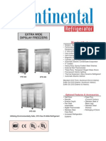 Wide Display Freezers Specification Sheet for Continental Refrigerator 3fe Gd Freezer