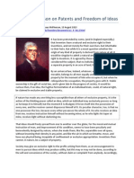 Thomas Jefferson on Patents and Freedom of Ideas