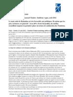 Communiqué de presse Baromètre politique - vague 8 - août 2012
