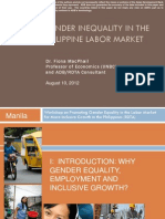 Gender Inequality in the Philippine Labor Market
