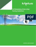 Anteenna PIM Testing Guidelines Brochure