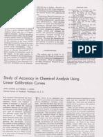 Estudio de la exactitud en análisis químicos que utilizan curvas de calibración lineal