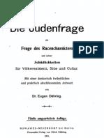 Duehring, Eugen - Die Judenfrage Als Frage Des Racencharakters (1901, 165 S., Scan)