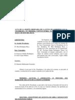 Acta Junta Gobierno Ayuntamiento Niguelas 22-05-2012