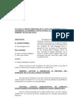 Acta Junta Gobierno Ayuntamiento Niguelas 27-02-2012