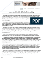 Theoretical Models of Public Policymaking