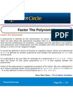 Factor the Polynomial