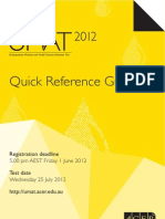 UMAT 2012 Quick Reference Guide
