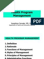 Health Program Management- Dra Carnate