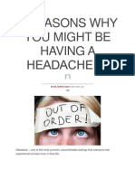 5 Reasons Why You Might Be Having a Headache