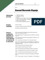 C.v. Antonio Borondo