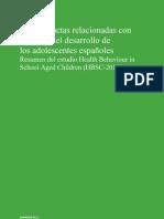 Condiciones de salud de los jóvenes españoles