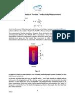 Principal Methods of Thermal Conductivity Measurement