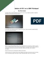GT1 Native Install Thinkpad