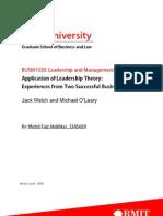 Application of Leadership Theory, By Mohd Faiz Mokhtar, 3345689