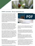 Bovey Valley - PAWS Restoration & Bats