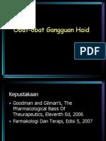 Obat Gangguan Haid