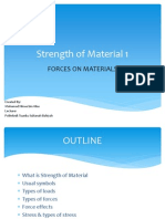 Strength of Material 1 - Forces on Material
