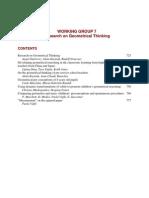 CERME4_WG7La investigación sobre el pensamiento geométrico