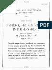 Erection & Maitanance Instructions for P-51D-5-10-15-20-25, P-51K-1-5-10-25 British Mustang IV