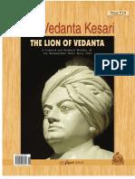 The Vedanta Kesari August 2012