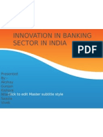 Innovation in Banking Sector in India