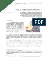 Cap 2.- Conceptos generales de la administración informática