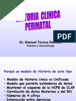 Historia Clinica Perinatal - Dr Ticona