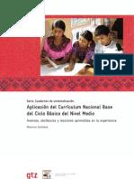 Aplicación del Currículum Nacional Base del Ciclo básico del Nivel Medio