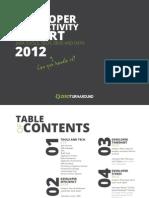 Zeroturnaround Developer Productivity Report 2012